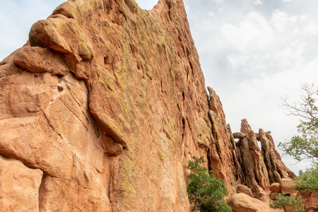 Sandstone formations along Central Garden Trail in Garden of the Gods, Colorado Stock Photo