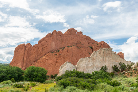 Kissing Camels atop North Gateway Rock along the Central Garden Trail in Garden of the Gods, Colorado