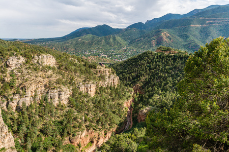 View of Williams Canyon from Cave of the Winds in Manitou Springs, Colorado