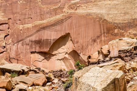 Petroglyphs in Capital Reef National Park, Utah