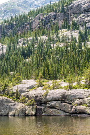 Mills Lake in Rocky Mountain National Park, Colorado Stock Photo