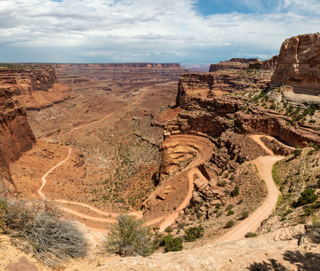 Shafer Canyon Road in Canyonlands National Park, Utah Stock Photo