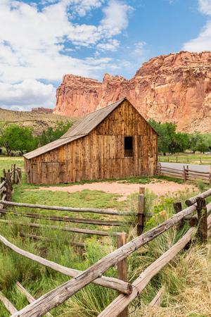 Pendleton-Jorgenson-Gifford Barn in Capital Reef National Park, Utah Stock Photo
