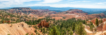 Panorama from Sunrise Point of Bryce Canyon National Park, Utah