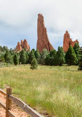 View along Central Garden Trail in Garden of the Gods, Colorado