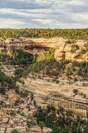 Cliff Palace seen from Sun Point View in Mesa Verde National Park, Colorado