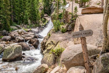 Alberta Falls in Rocky Mountain National Park, Colorado Stock Photo
