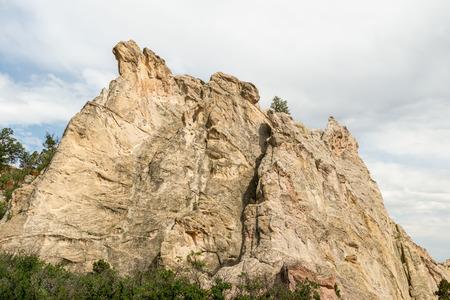 White Rock along Central Garden Trail in Garden of the Gods, Colorado Stock Photo - 115492372