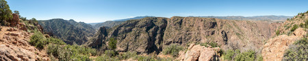 Panorama of Royal Gorge in Canon City, Colorado Stock Photo