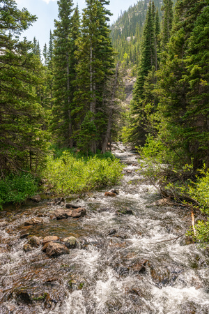Trail to Mills Lake in Rocky Mountain National Park, Colorado