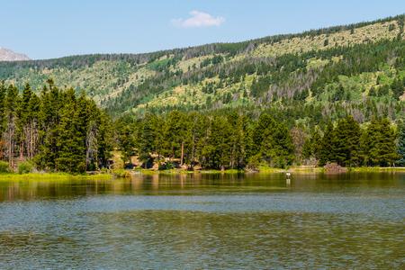 Sprague Lake Trail in Rocky Mountain National Park, Colorado Stock Photo
