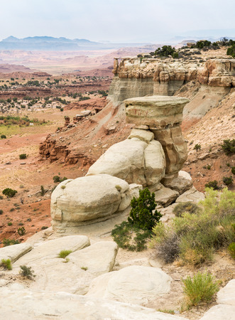 Cliffs in the San Rafael Swell in Utah off I-70 Stock Photo