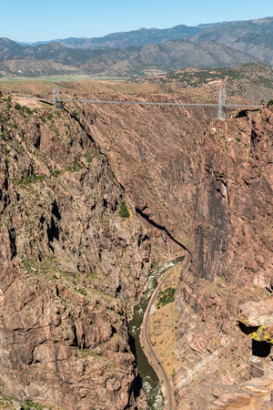 Royal Gorge Bridge in Canon City, Colorado Stock Photo - 115492672