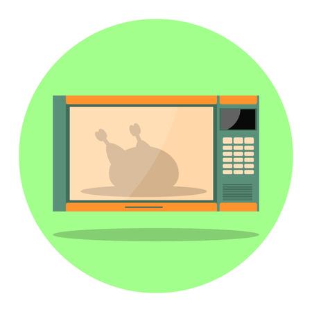 Illustration of microwave, flat design icon