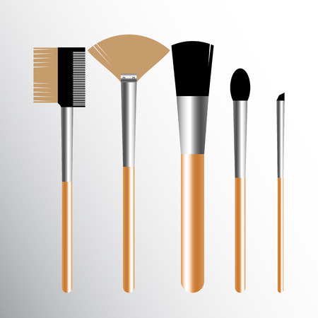 Set of Realistic makeup concealer isolated objects