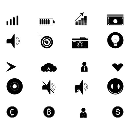 Set of technology icons. Icon collection for web design. Illustration