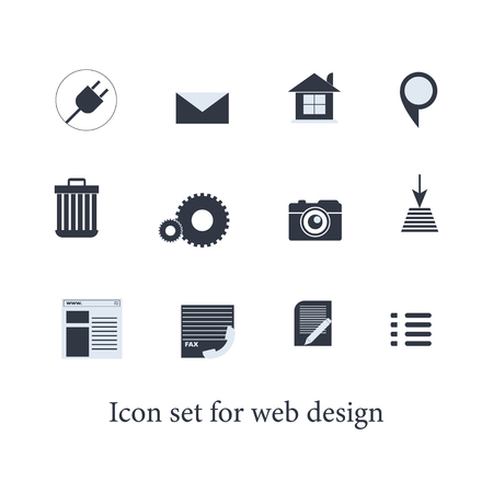Icon set for web design. Collection mix icons.