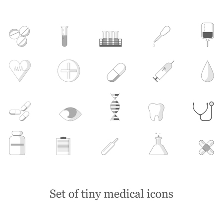 Set of tiny medical icons