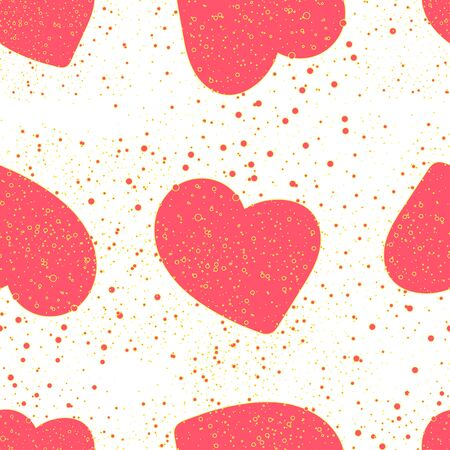 Valentines day seamless pattern with hearts
