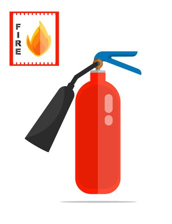Fire extinguisher vector object Illustration