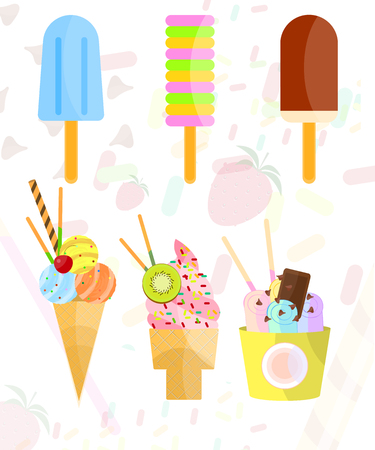 Vector objects collection of Ice cream Illustration