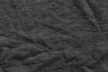 linen fabric: Close up of black linen fabric Stock Photo