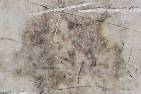 Abstract background - high angle view of charred and damaged concrete slab