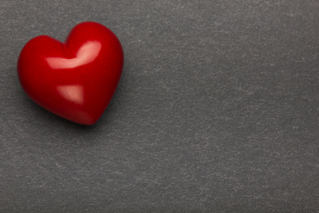 Heart on a stone background. Background to Valentines Day.