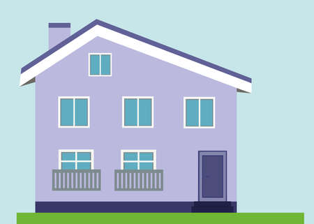 Light purple house Ilustracje wektorowe