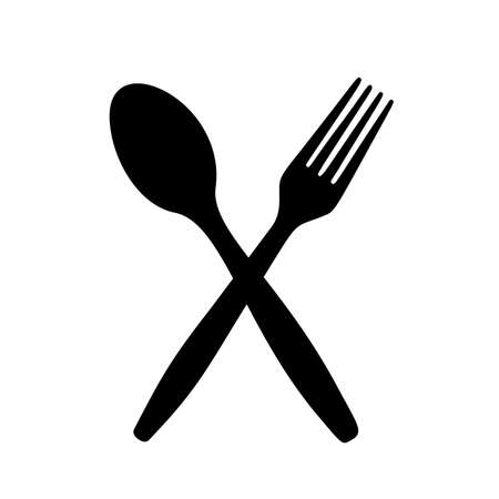 Spoon for serving the table. Vector image.