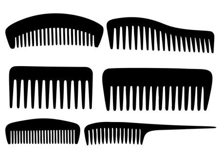 Combs in the set. Vector image. Çizim