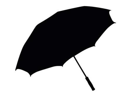 An ordinary umbrella from the rain. Vektorgrafik
