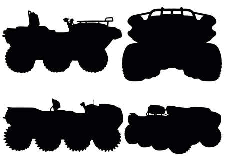 All-terrain vehicles in the set. Vector image.