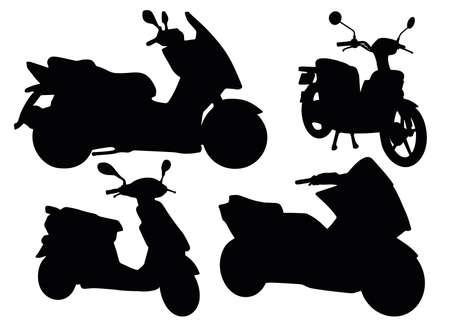 Mopeds in a set. Mototechnics.