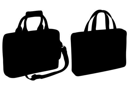 Large office and travel bags for men. Vector image.