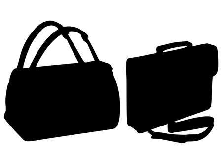 Travel bag and office bag for men in a set.