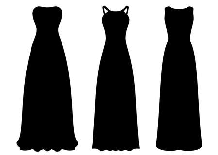 Long evening dresses for women in the set.
