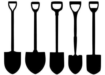Shovels for the garden and repair work in the set.