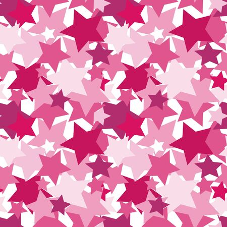 Vector illustration, seamless texture, pattern, square - pink stars. Radiance, glamour, confetti, sequins, rhinestones