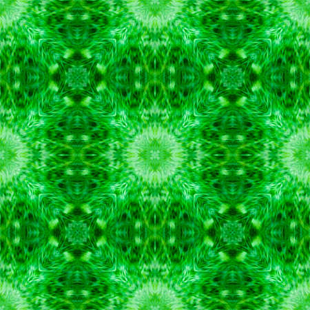 Computer graphics, illustration - a square pattern, kaleidoscope in different shades of green. Emerald. Magic, surreal, patchwork Фото со стока - 152878593