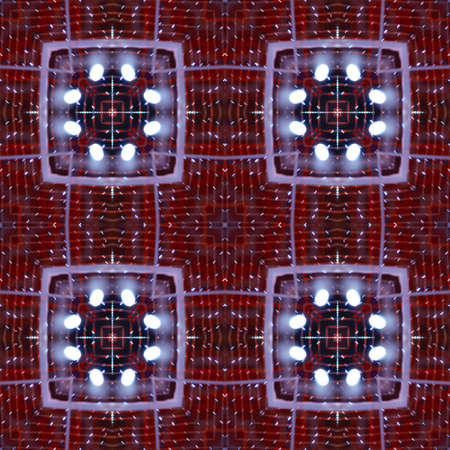 Abstract contrasting bright pattern - square, tiles, kaleidoscope - lights of the night city. Background for blog or website, textiles, packaging