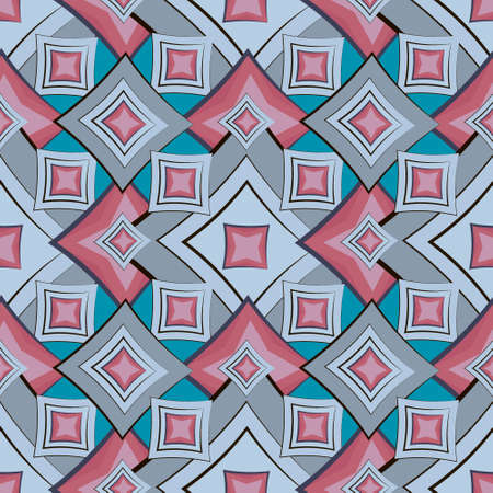 Seamless texture, pattern. Abstract geometric pattern on a square background - colored diamonds. Background for website or blog, wallpaper, textiles, packaging Иллюстрация