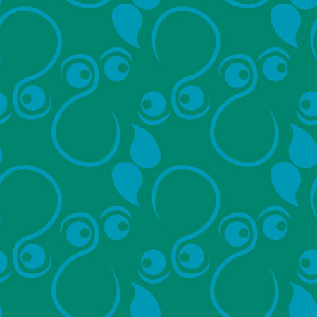 Seamless texture, pattern on a square background - face, look, surprise, mustache, gnome. Background for a website or blog, textiles, wallpaper, packaging.