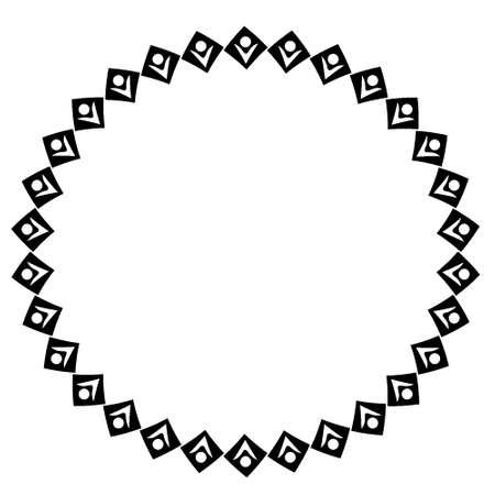 Stylized geometric pattern on a square background. Shape. Ethnic. Design element carpet simplicity. Art
