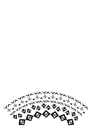 Black and white minimalism, graphics. Illustration - frame of lace. Design elements for book cover, notepad, phone screensaver. postcard.