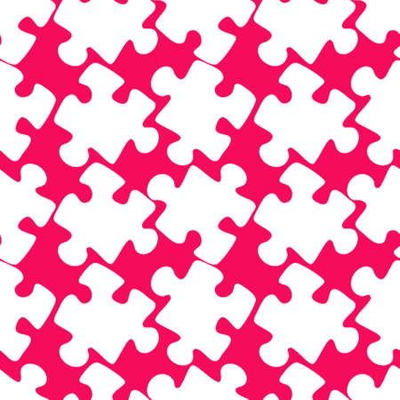 Illustration - Seamless texture, pattern - puzzles. Minimalism, pastiche. Background for a website or blog, wallpaper, textiles or packaging.