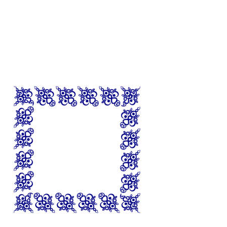 Frames of decorative ethnic elements on a square sheet, surreal, graphics. Designing notebook covers, mobile apps, websites, design elements Иллюстрация
