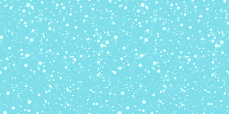Snow seamless pattern. Cute snowflakes background. Winter wallpaper. Vector illustration. Can use for holidays decoration, Christmas, New Year designs, textile, fabric, wrapping paper Illustration