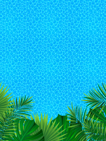 tropical landscape. Vertical border frame. Vector illustration. beautiful tropic background. good choice for summer, travelling, vacation designs. Ocean coastline wallpaper. Illustration