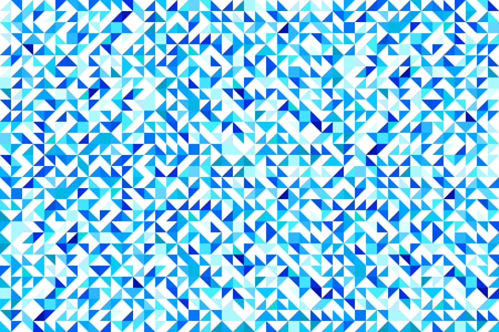 triangular background. Vector illustration. triangles geometrical print. Blue bright colors. abstract repet texture. Fresh idea for cover, home decor, winter, interior design.